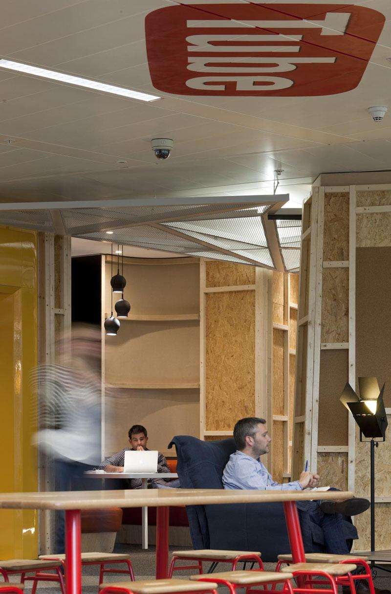 现代室内设计理念_时尚办公网|办公设计|设计欣赏|YouTube公司伦敦创意办公设计欣赏